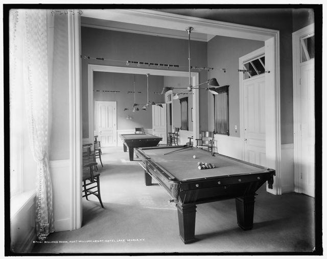 Billiard room, Fort William Henry Hotel, Lake George, N.Y.
