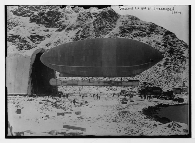 Blimp-Wellman air ship, Spitzbergen