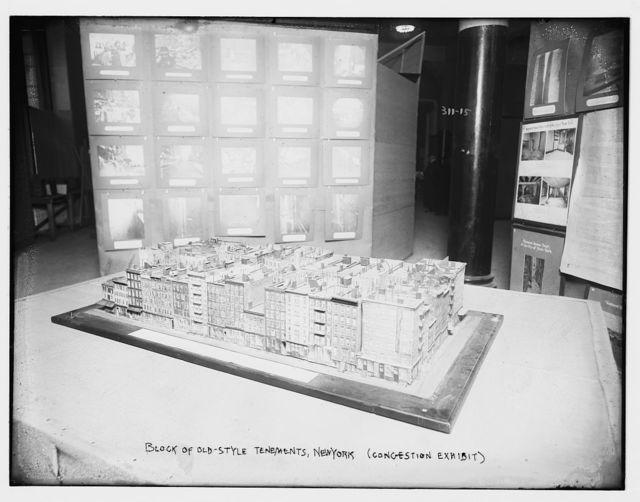 Block of Old Style Tenements, N.Y. (Congestion exhibit)