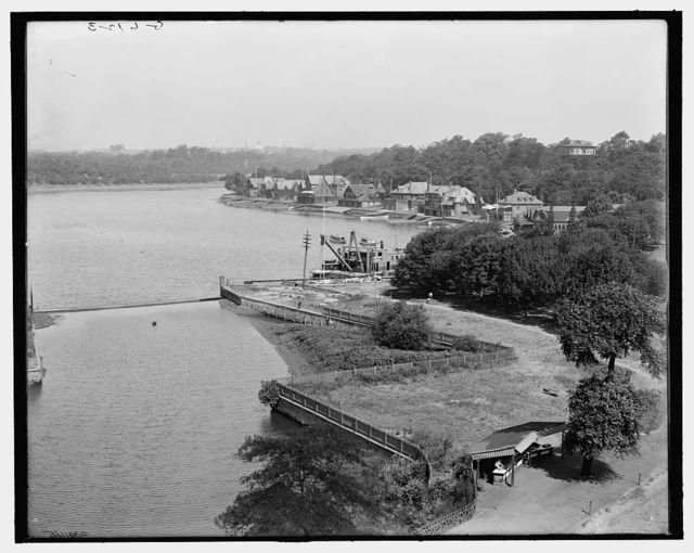 [Boat houses along the Schuylkill, Fairmount Park, Philadelphia, Pa.]