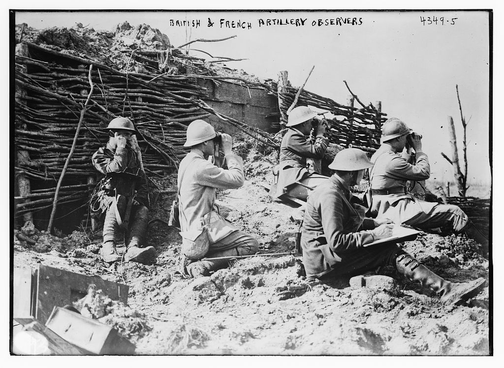 British & French artillery observers