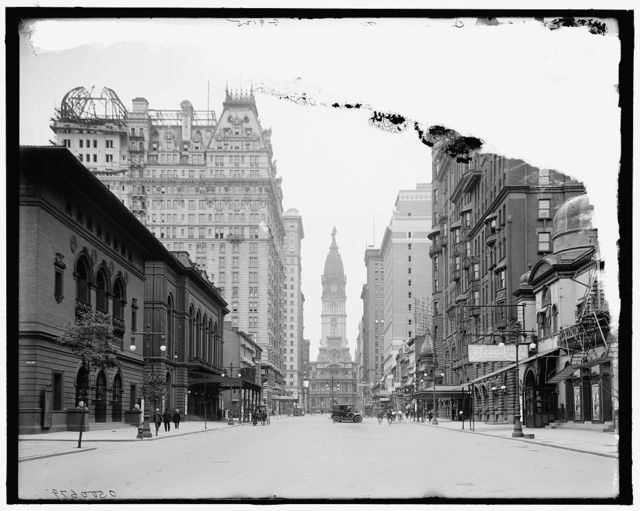 [Broad Street and City Hall, Philadelphia, Pa.]