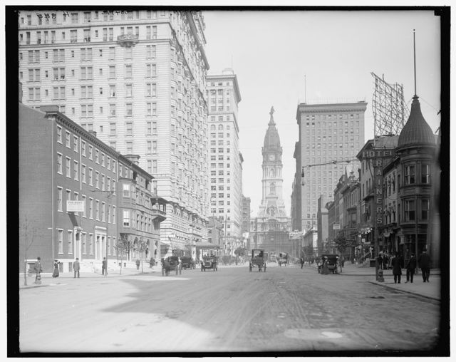 [Broad Street north from Locust, Philadelphia, Pa.]