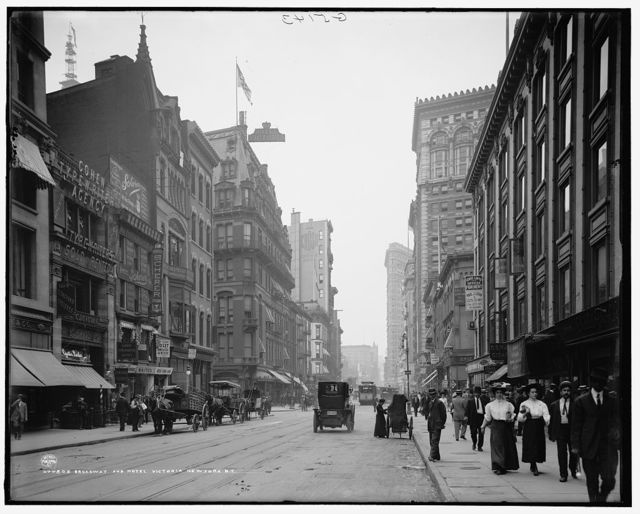 Broadway and Hotel Victoria, New York, N.Y.