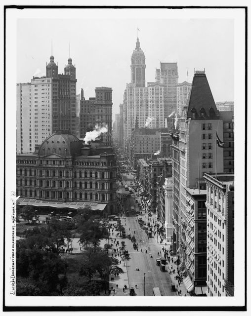 Broadway from Chambers St., New York, N.Y.