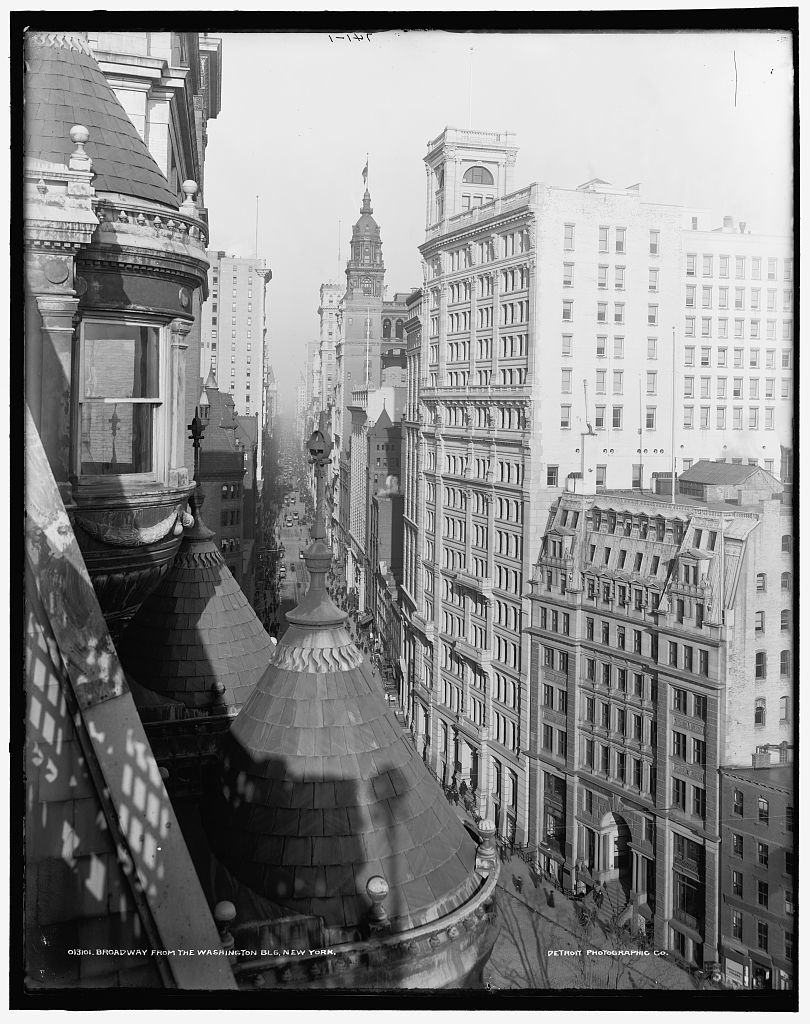 Broadway from the Washington Blg., New York