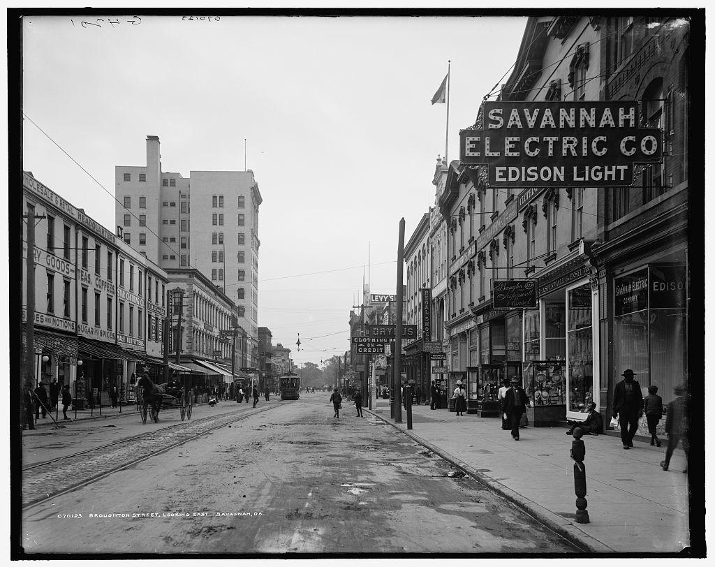 Broughton Street, looking east, Savannah, Ga.