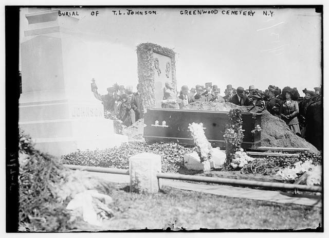 Burial of T.L. Johnson, Greenwood Cemetery N.Y.