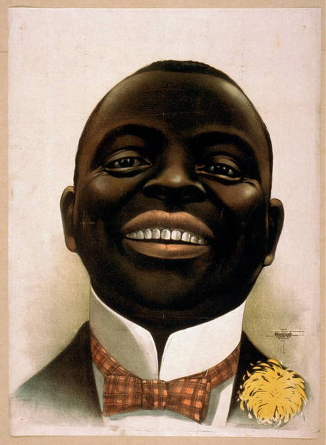 [Bust portrait of smiling African American, facing front]