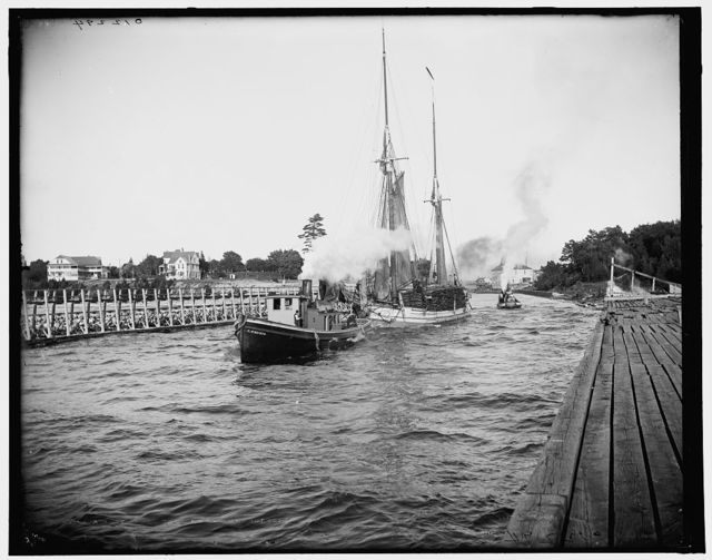 Busy day in the canal, Charlevoix, Mich.