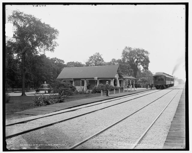 C. & N.W. Ry. [i.e. Chicago & North Western Railway] station, Kenilworth, Ill.