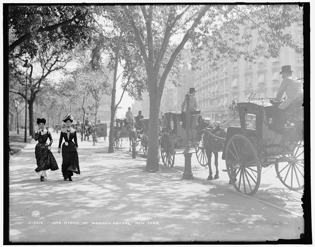 Cab stand at Madison Square, New York