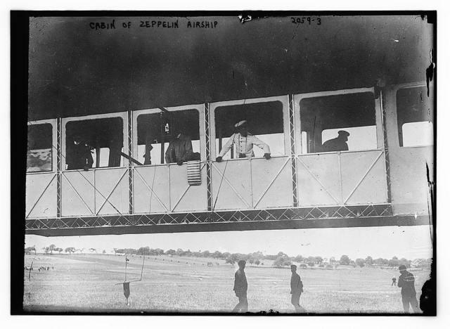 Cabin of Zeppelin airship