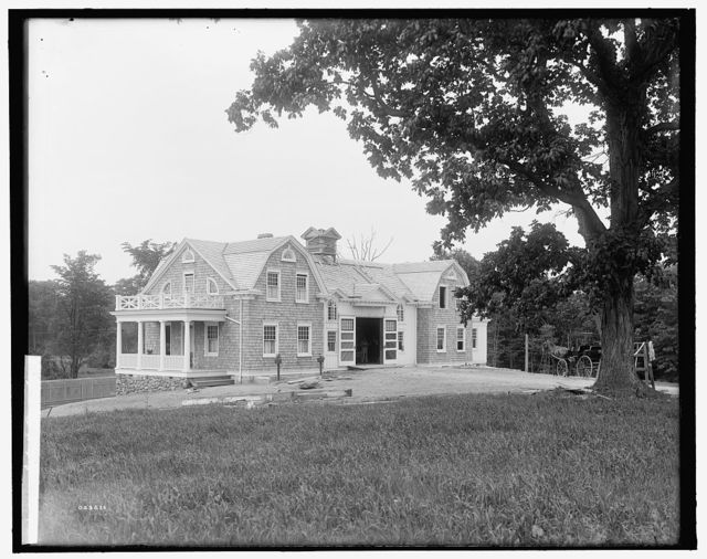 [Calloway residence, stable, Mamaroneck, N.Y.]