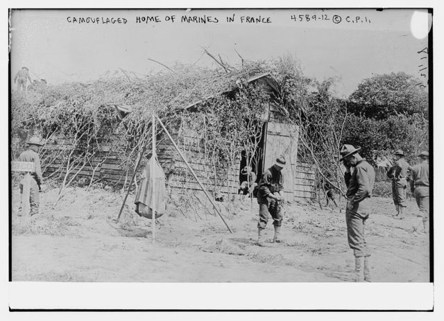 Camouflaged home of marines in France