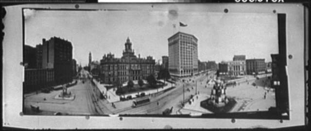 [Campus Martius, with Detroit City Hall and Square, Detroit, Michigan]