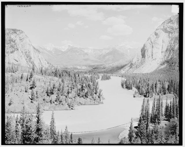 [Canadian National Park, down Bow Valley from Banff Springs Hotel, Alberta, Canada]