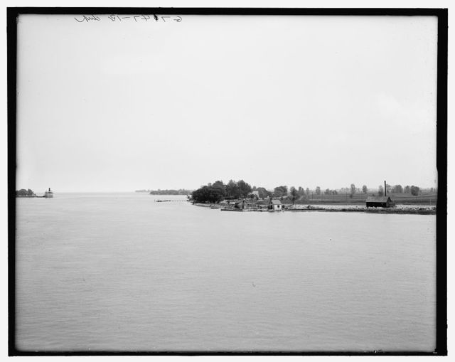 [Canadian shore from Peche Island, Lake St. Clair]