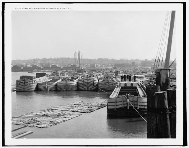 Canal boats in winter quarters, New York, N.Y.