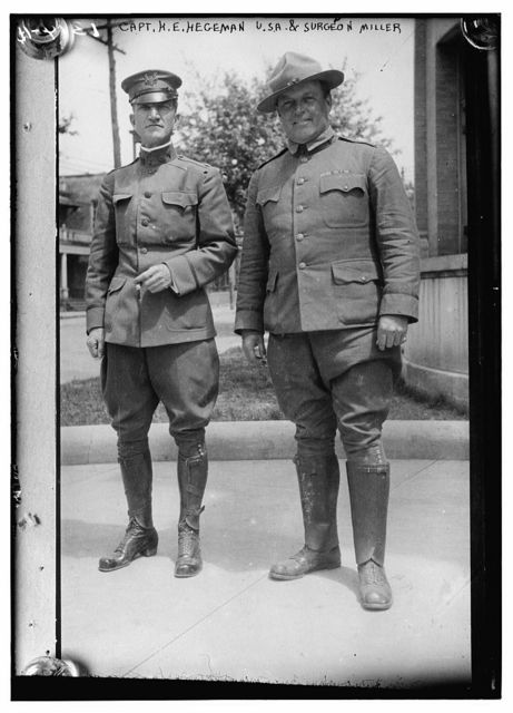 Capt. H.E. Hegeman and Surgeon Miller