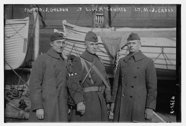 Capt. O.J. Golden, L.G. McConkie, Lt. M.J. Cross