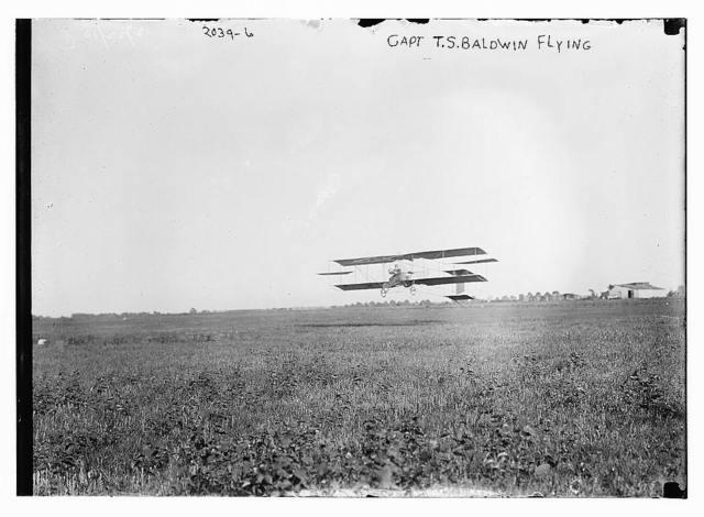 Capt. T.S. Baldwin flying