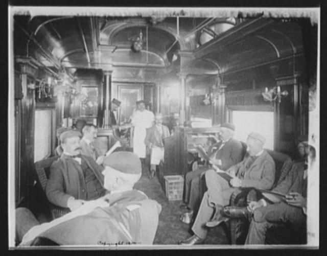 [Car interior, Chicago and Alton Railroad]