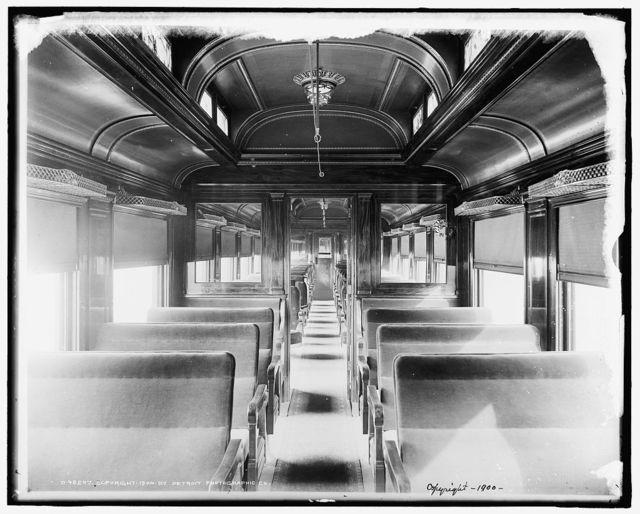 [Car interiors, Chicago and Alton Railroad]