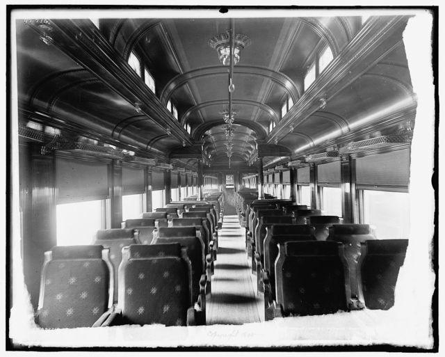 [Car interiors, Chicago and Alton Railroad, buffet car]