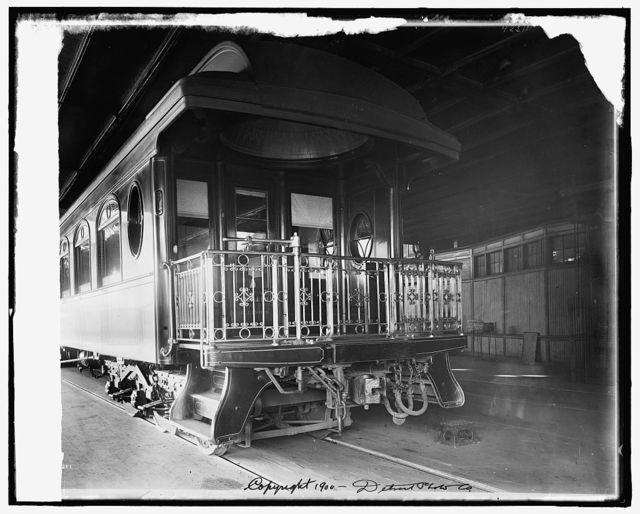 [Car, rear platform, Chicago and Alton Railroad]