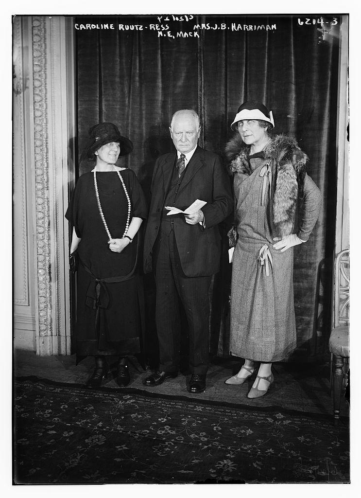 Caroline Ruutz-Ress, Mrs. J.B. Harriman, H.E. Mack