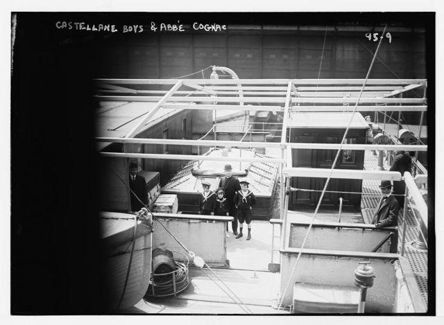 Castellane boys and Abbe Cognac aboard ship