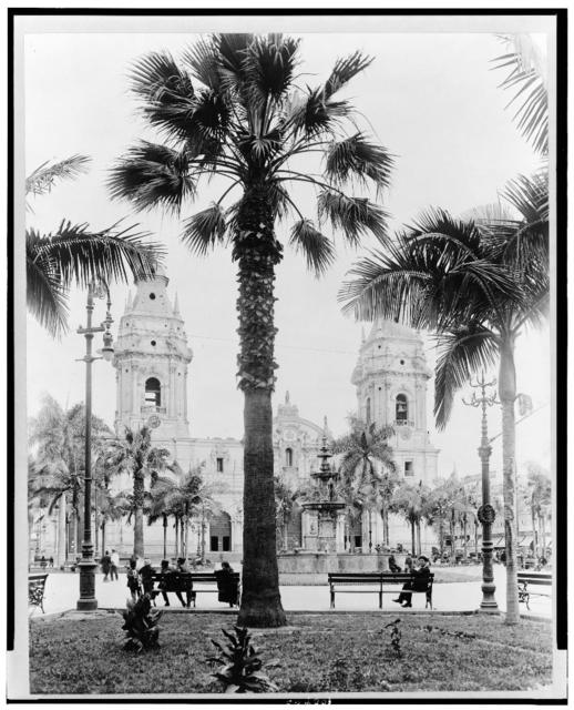 [Cathedral in the Plaza de Armas, Lima, Peru]