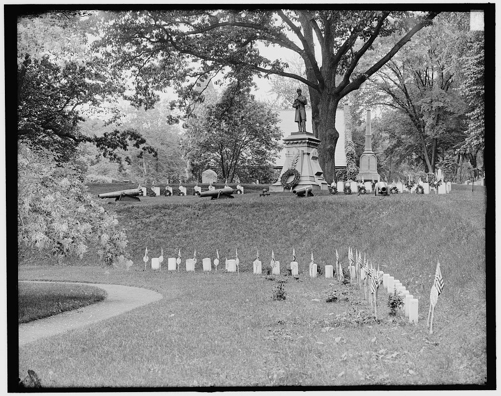 [Cemetery, the soldiers' plot, Springfield, Mass.]