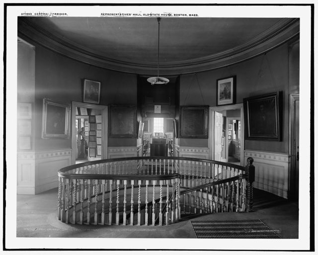 Central corridor, looking through Representatives' Hall, Old State House, Boston, Mass.