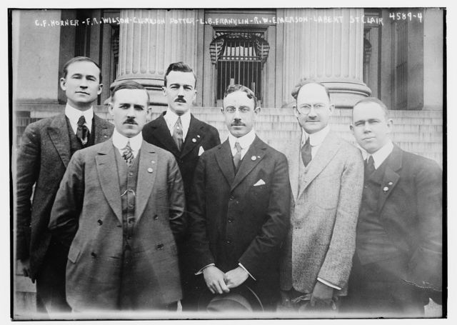 C.F. Horner, F.R. Wilson, Clarkson Potter, L.B. Franklin, R.W. Emerson, Labert St Clair