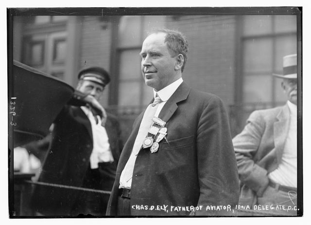 Chas. D. Ely, father of aviator, Iowa delegate