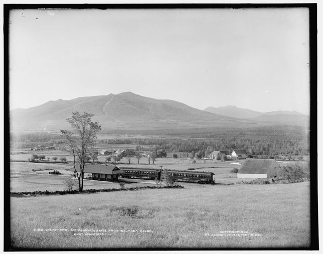 Cherry Mtn. and Franconia Range from Waumbek House, White Mountains