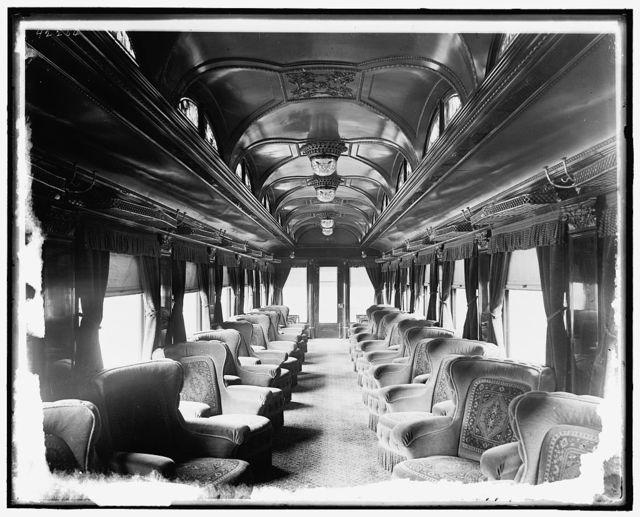 [Chicago and Alton Railroad car interiors]