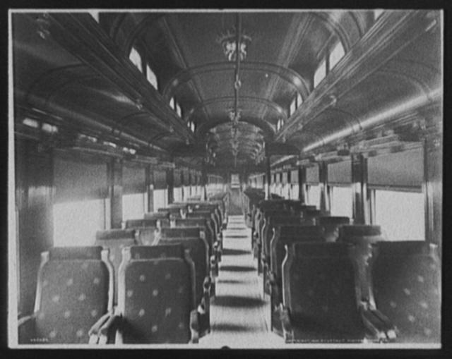 [Chicago and Alton Railroad chair car]