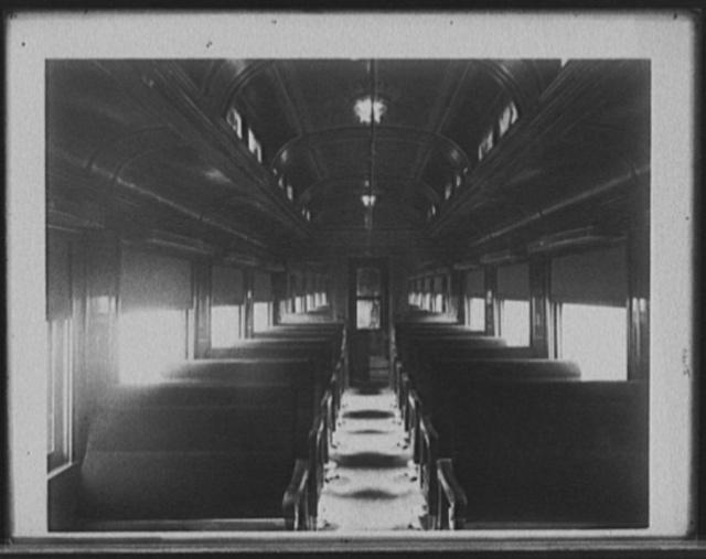 [Chicago and Alton Railroad day coach]