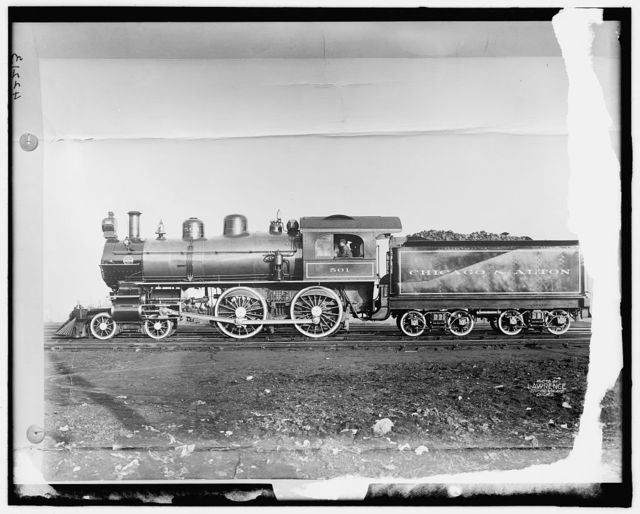 [Chicago and Alton Railroad, engine]
