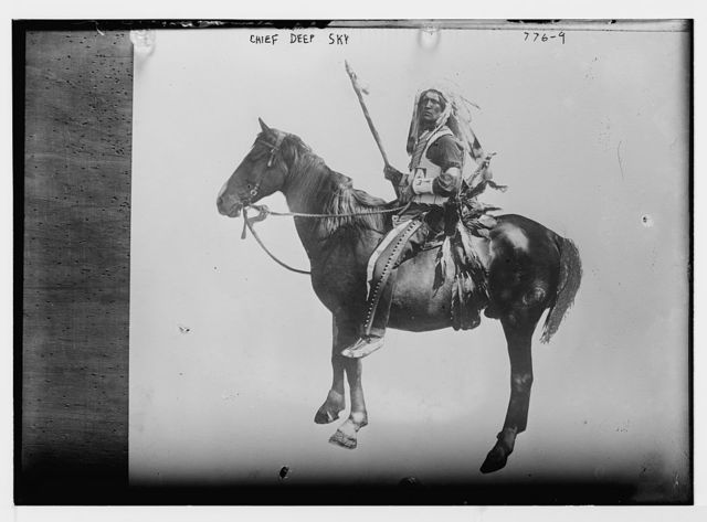 Chief Deep Sky-Indian mounted on horse