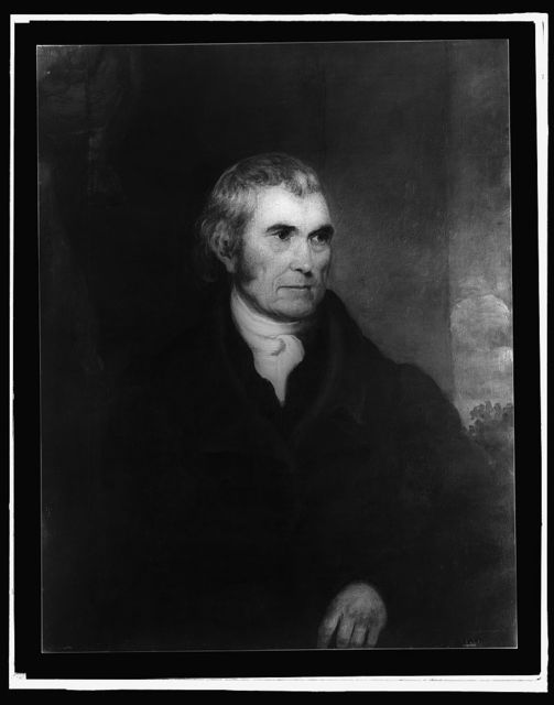 [Chief Justice John Marshall, half-length portrait]