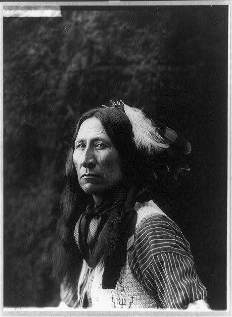 [Chief Lone Bear, half-length portrait, facing right]