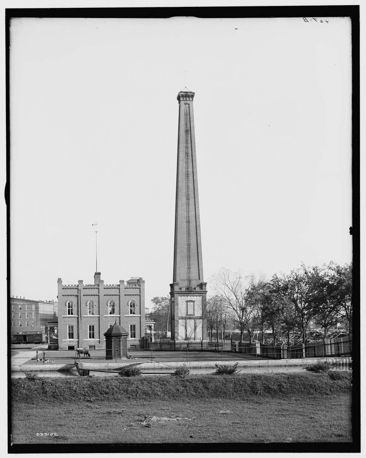 Chimney of old Confederate Powder Works Mill, Augusta, Ga.