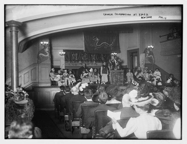 Chinese celebration at Y.M.C.A., N.Y.