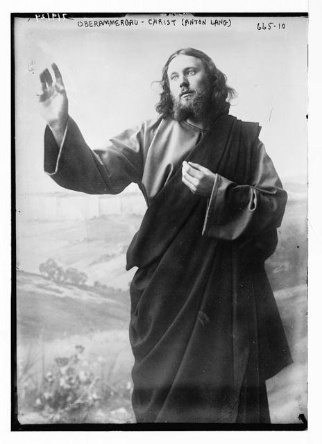 Christ (Anton Lang) in passion play, Oberammergau, Bavaria, Germany