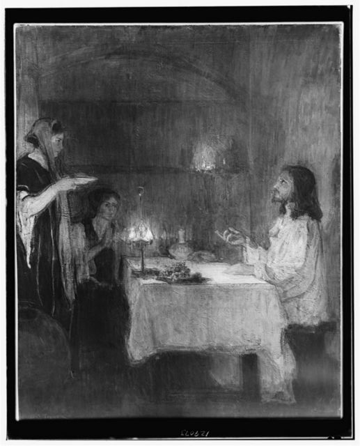 [Christ in the home of Mary and Martha]