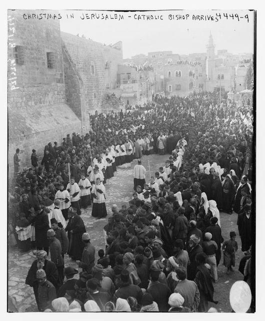 Christmas in Jerusalem [i.e. Bethlehem] -- Catholic Bishop arrives